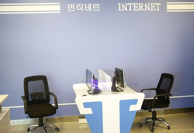 L'aeroporto di Pyongyang e la sala Internet senza accesso a Internet