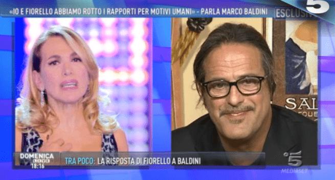 Marco Baldini e Fiorello, la lite spiegata a Domenica Live: 'Vediamo il mondo in modo diverso'