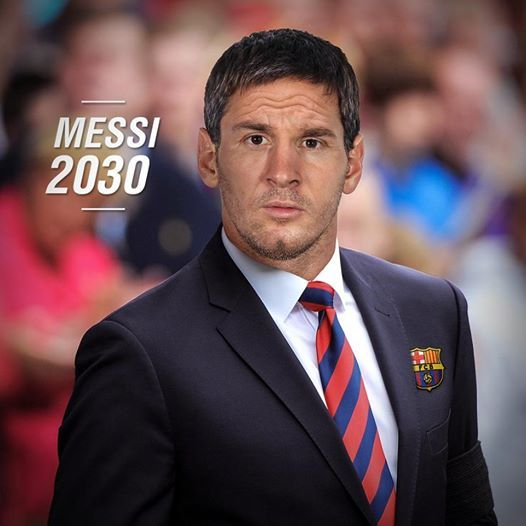 Lionel Messi da vecchio