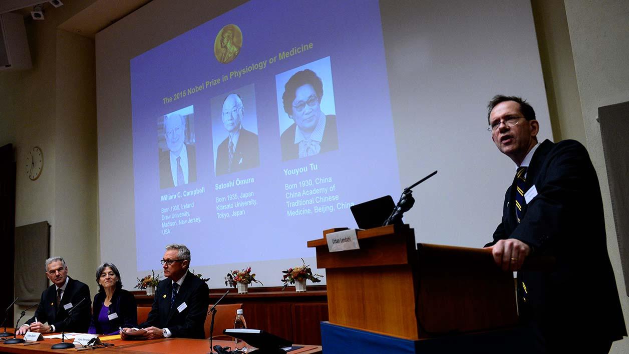 Premio Nobel per la Medicina 2015: premiati Campbell, Omura e Youyou Tu