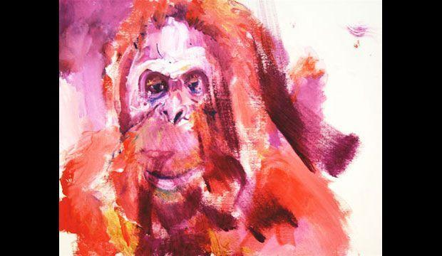 Orangotango pittore