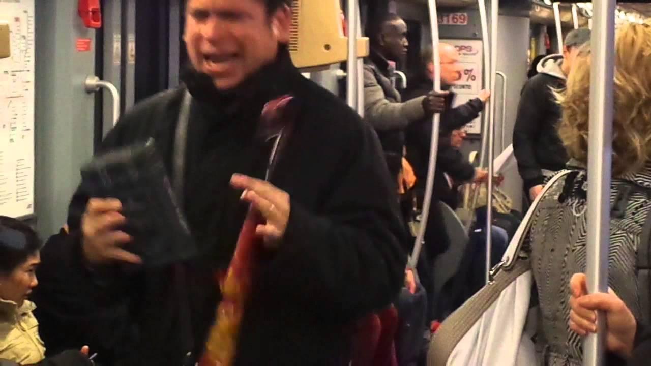 Predicatore in metro