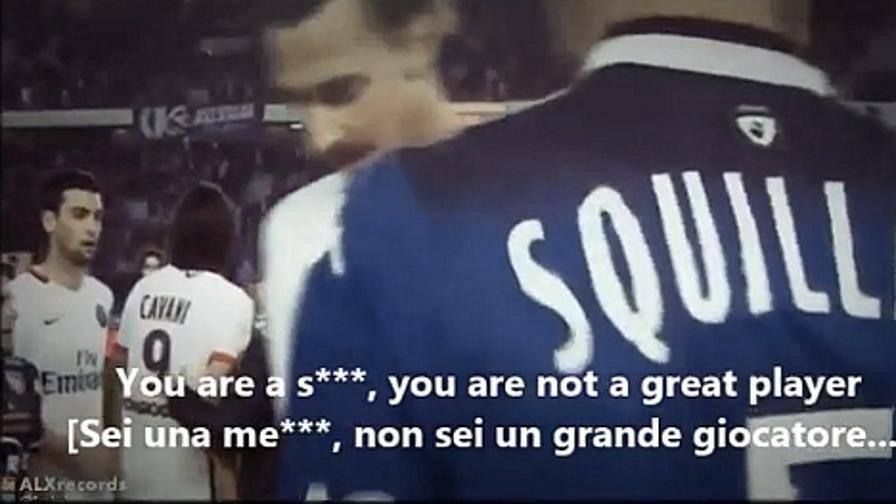 Squillaci insulta Ibrahimovic in diretta TV: sei una me**a