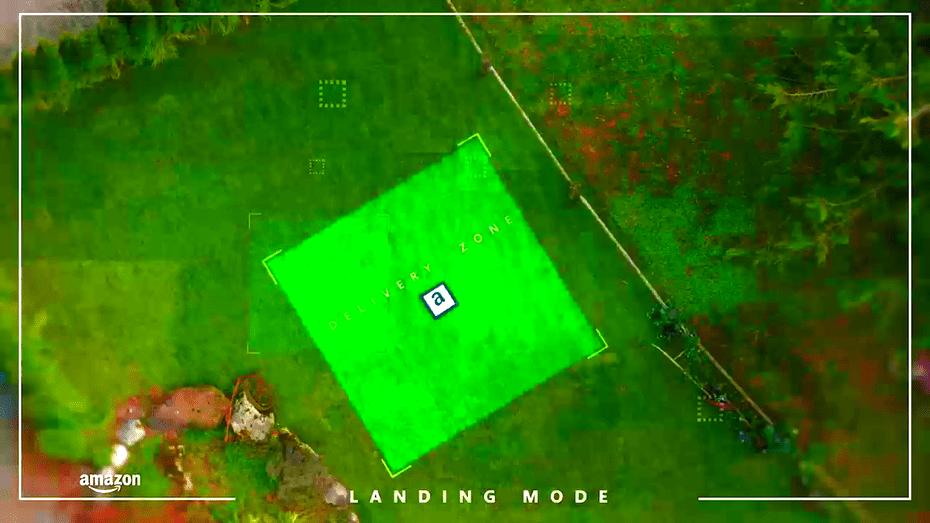 Atterraggio drone amazon
