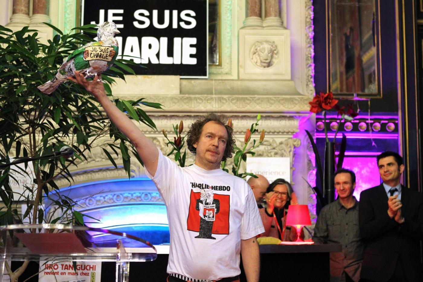 Esposizione del settimanale Charlie Hebdo