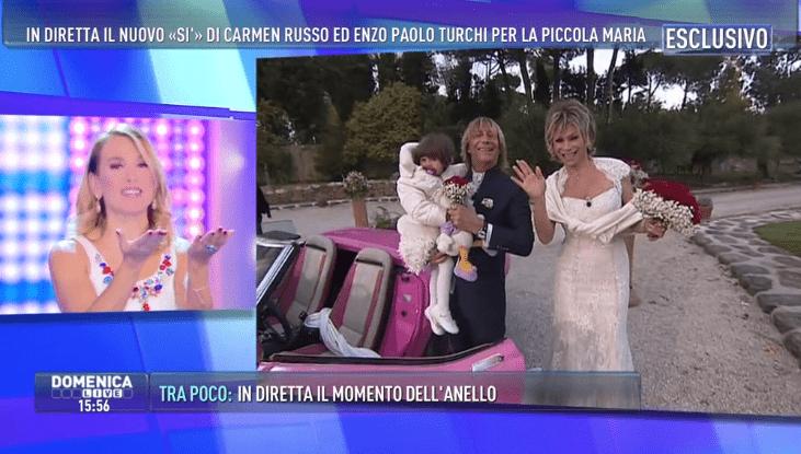 Matrimonio Carmen Russo ed Enzo Paolo Turchi