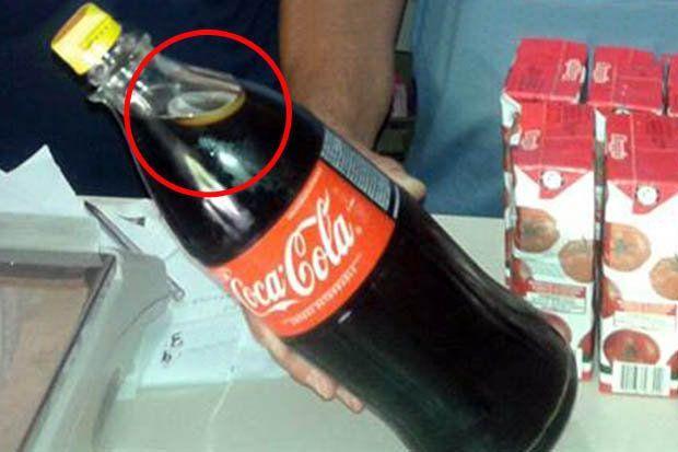 Preservativo nella coca cola