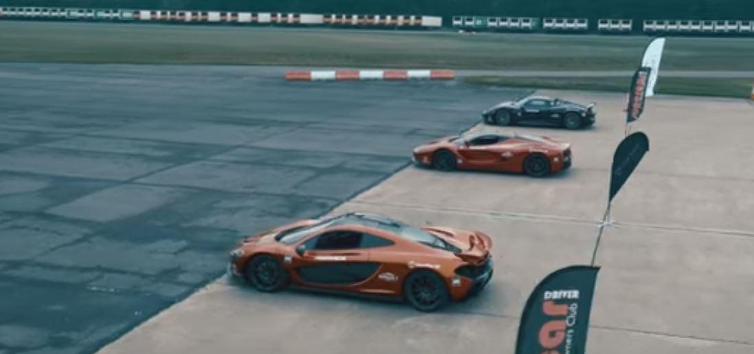 La Ferrari vs McLaren P1 vs Porsche 918 Spyder: sfida di velocità su pista