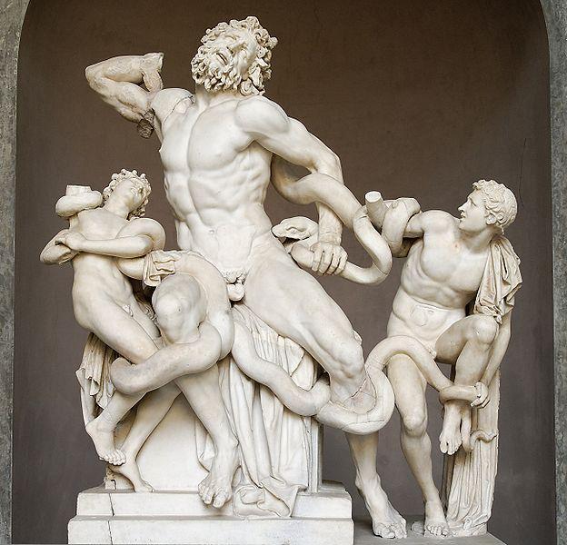 gruppo scultoreo laocoonte, musei vaticani