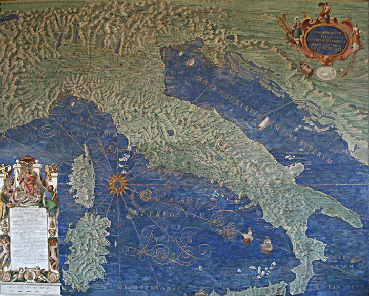 la galleria delle carte geografiche, musei vaticani