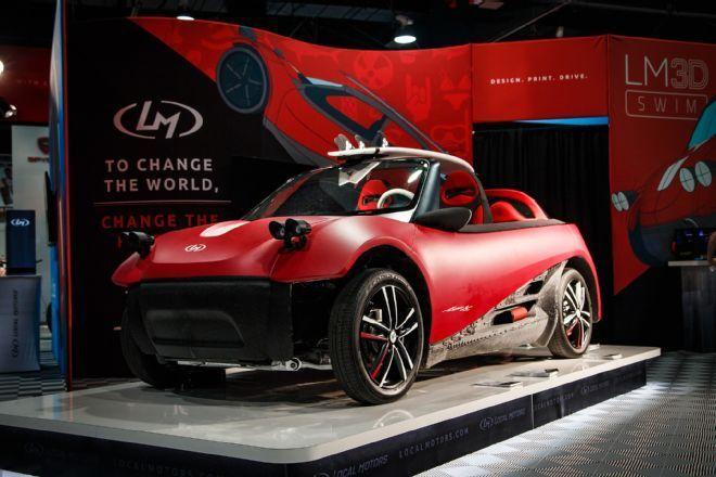 Auto stampata in 3D: presentata la LM3D Swim al Sema di Las Vegas