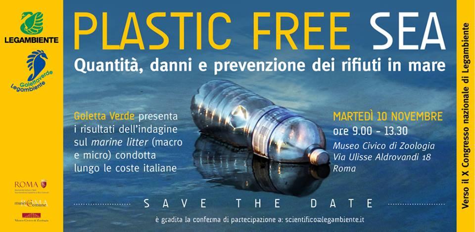 Plastic Free Sea: Legambiente presenta l'indagine sulla presenza di rifiuti nei mari italiani