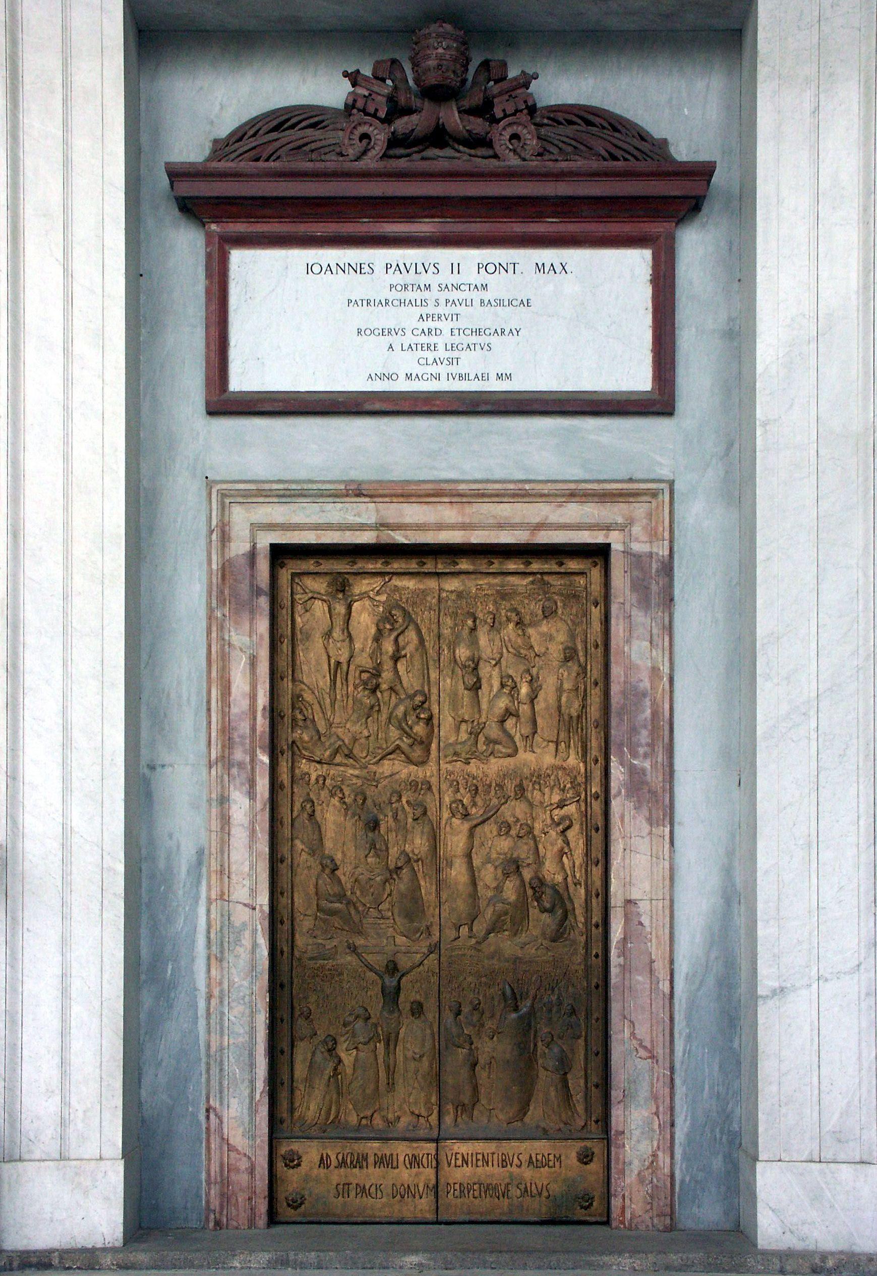 porta santa san paolo fuori le mura