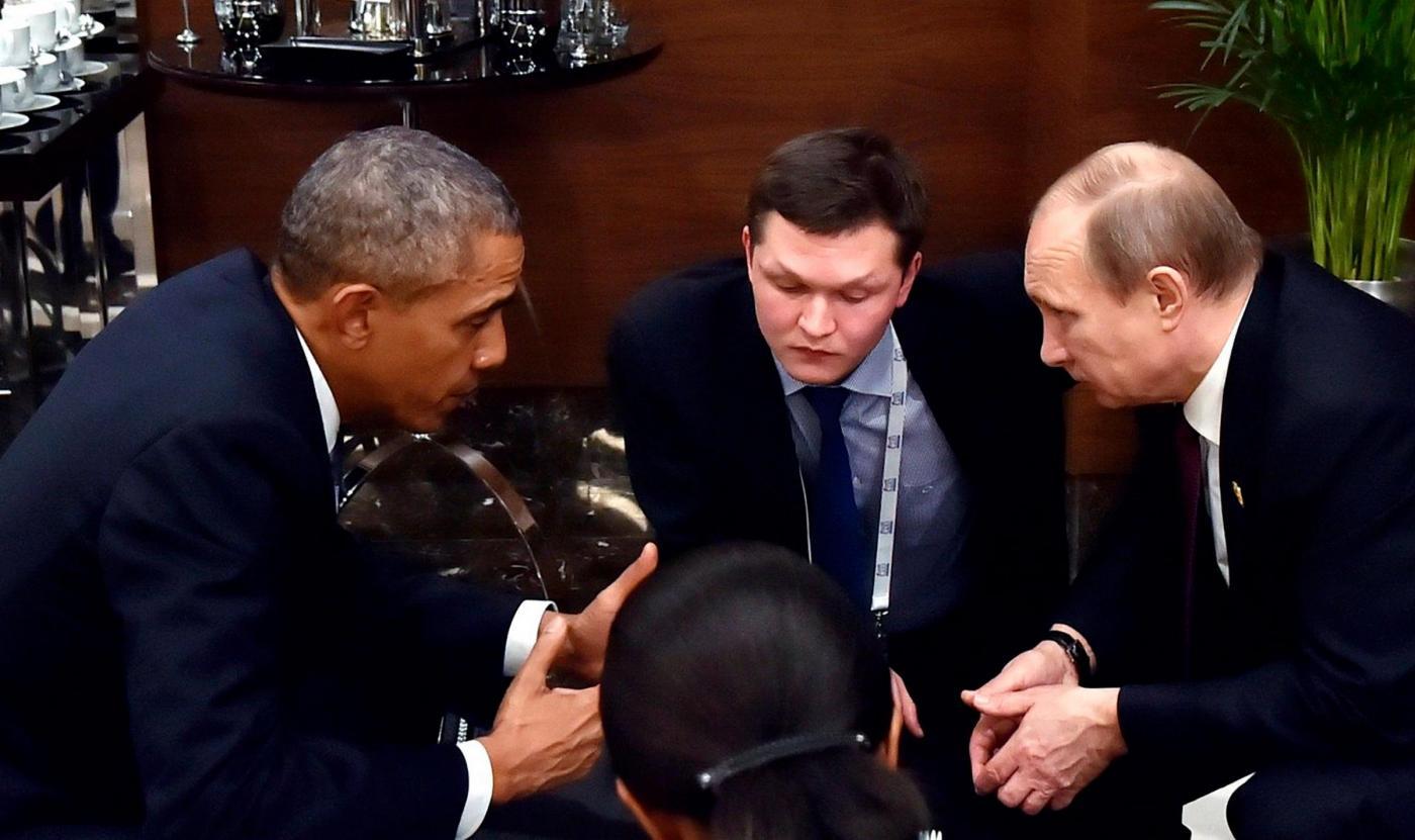 Vladimir Putin e Barak Obama