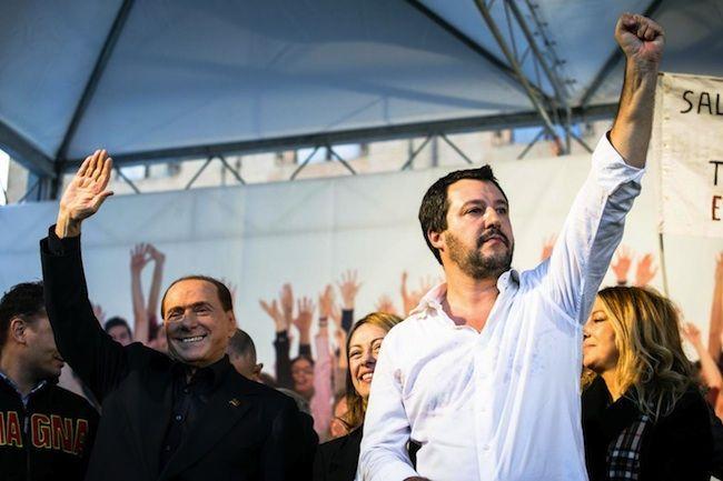 Matteo Salvini in piazza a Bologna