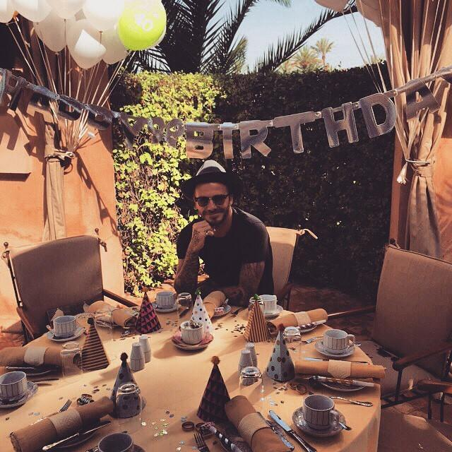 David Beckham festeggia i 40 anni