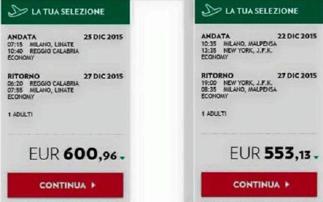 Volo Milano-Reggio Calabria più costoso di Milano-New York, il Web si scatena contro Alitalia