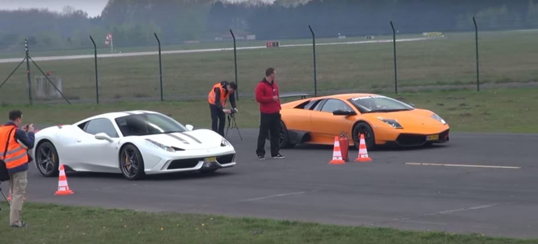 Ferrari 458 contro tutti, il drag race!