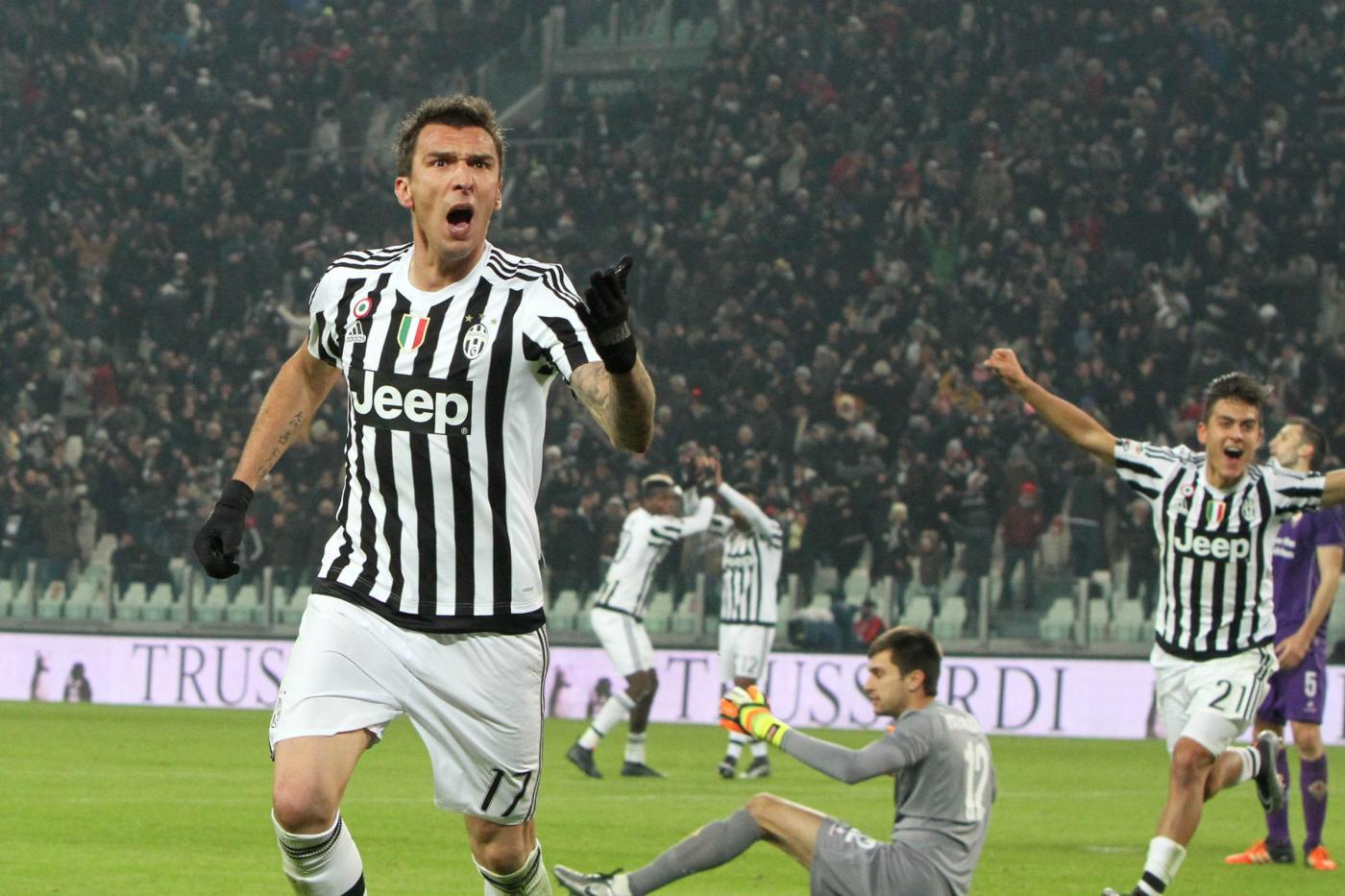 Juventus Fiorentina 3-1 serie A Tim 2015 2016 gol Mandzukic