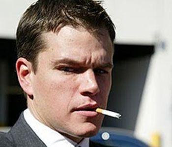 Matt Damon fumatore
