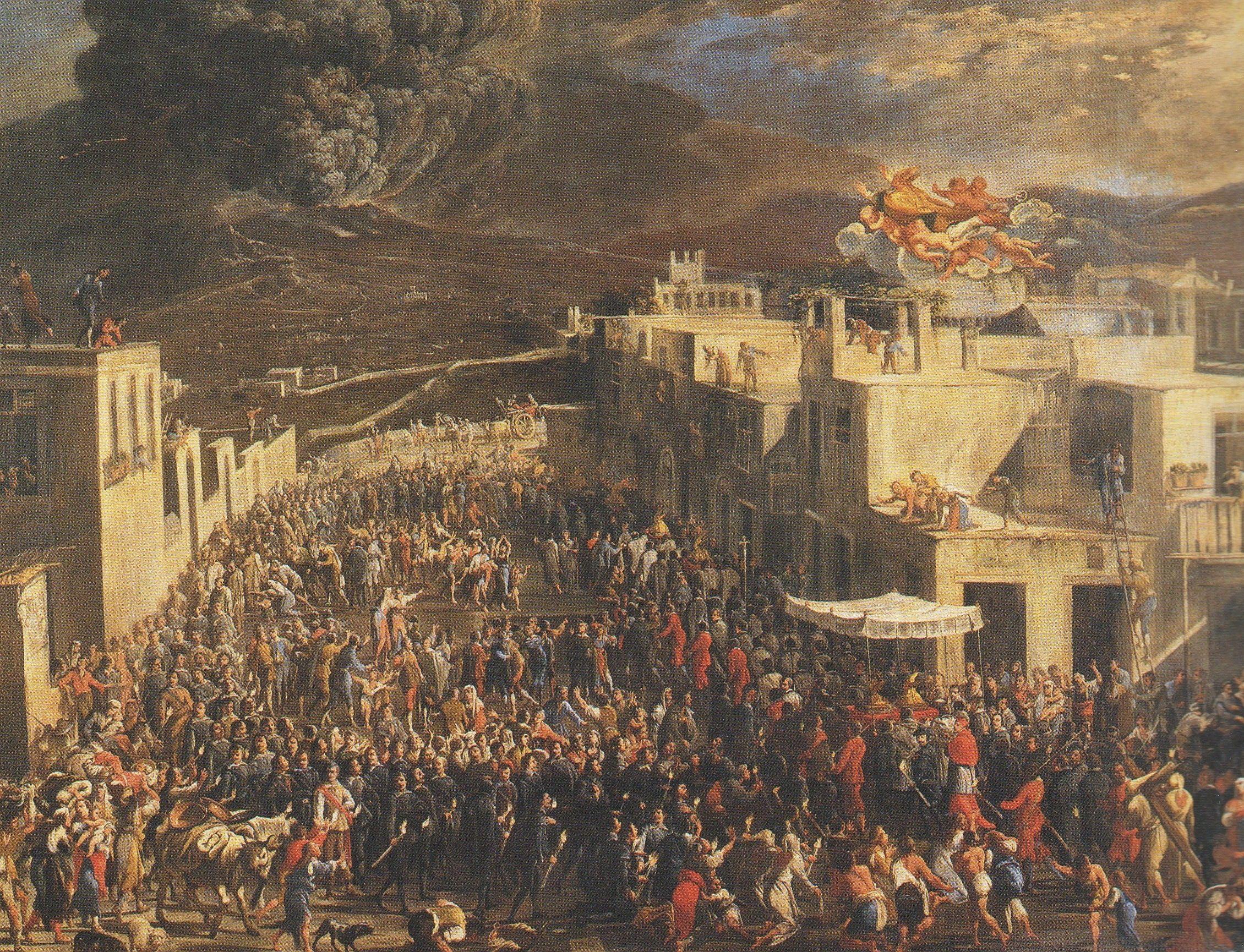 Processione san Gennaro, dipinto Domenico Gargiulo