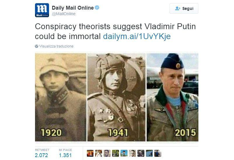 Putin immortale? Il web scava nella sua memoria e trova le prove
