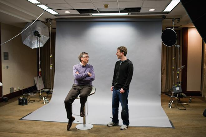 Zuckeberg e Bill Gates