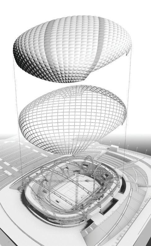 Palazzetto dello sport progettato da Vittorio Grassi