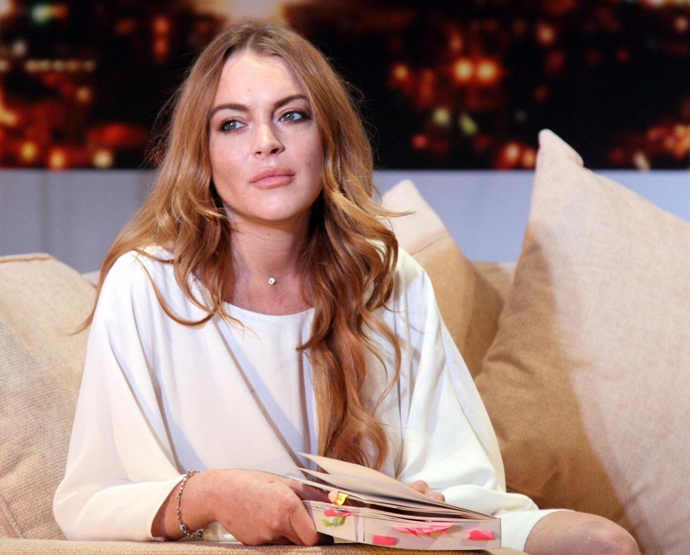 Lindsay Lohan durante un photocall a Londra