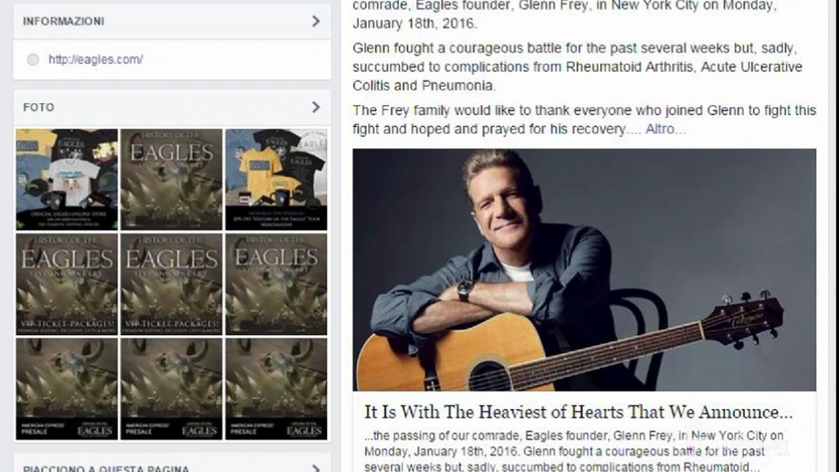 Morto Glenn Frey degli Eagles la band di Hotel California