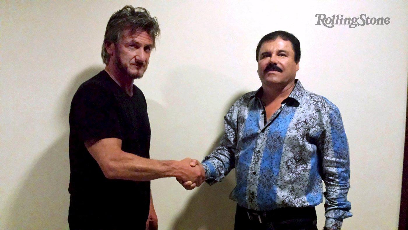 Sean Penn e El Chapo nella foto di Rolling Stone