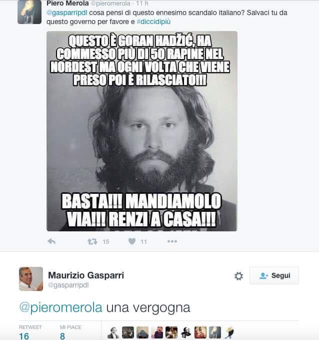 Gasparri e Jim Morrison