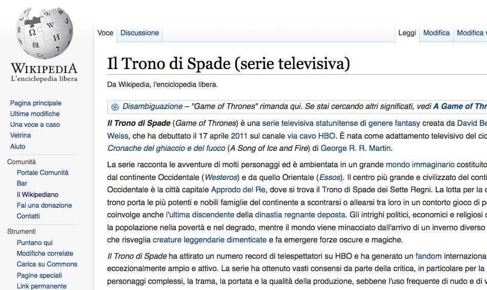 Wikipedia: le pagine più visitate nel 2015