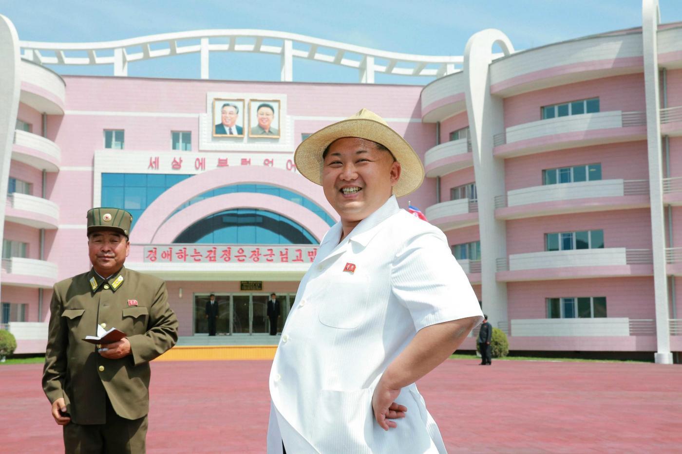 Kim Jong-un sorridente