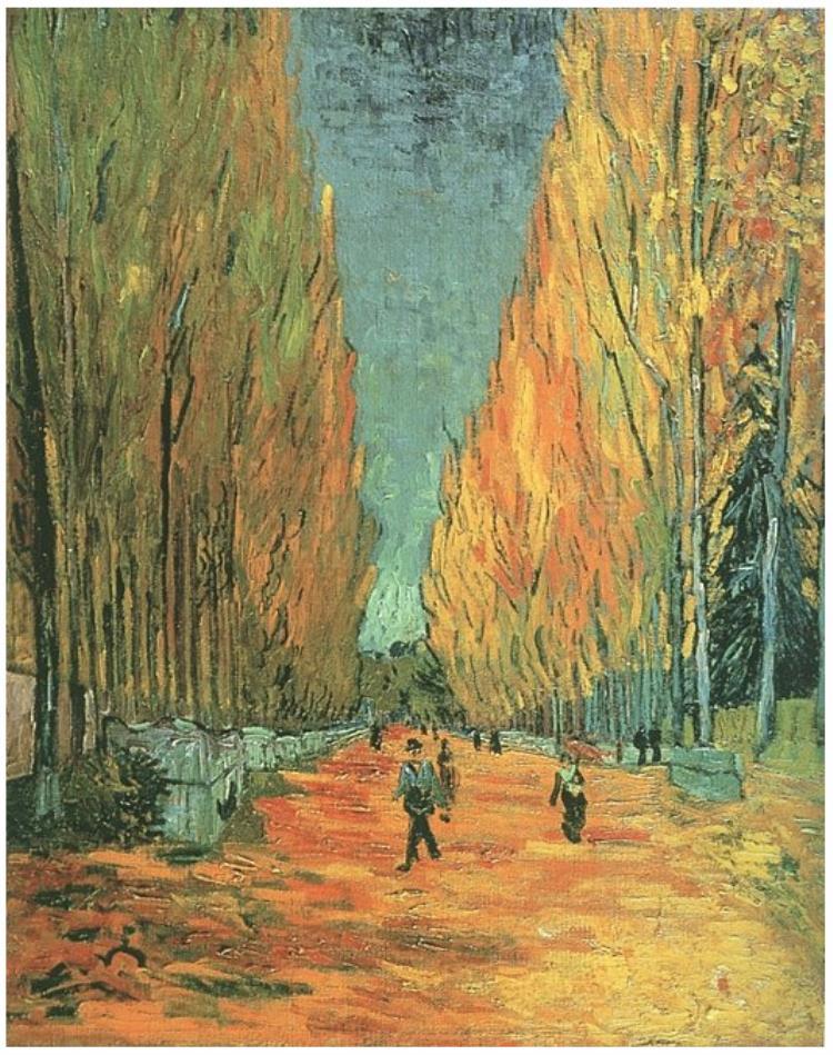 L'allée des Alyscamps, Vincent Van Gogh