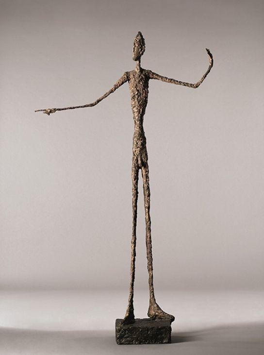 L'homme au doigt, Alberto Giacometti