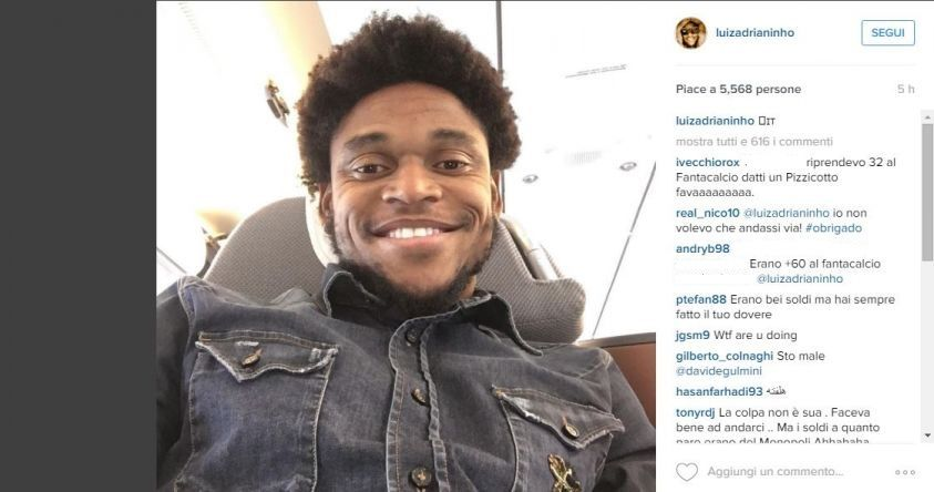 Luiz Adriano foto Instagram