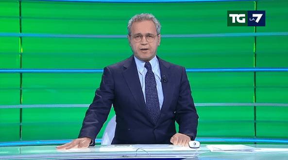 Enrico Mentana senza voce al Tg La7: edizione delle 20.00 da dimenticare