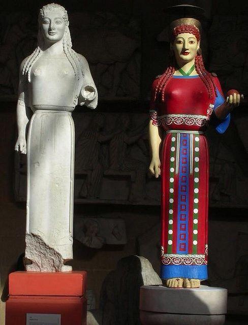 cose che nessuno sa sull'arte, statue greche colorate