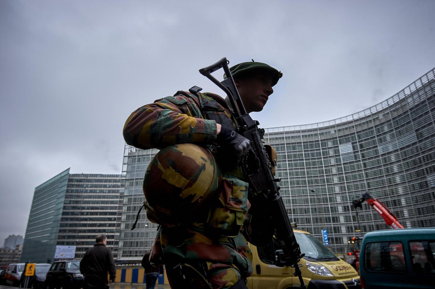 L'esercito nelle strade di Bruxelles