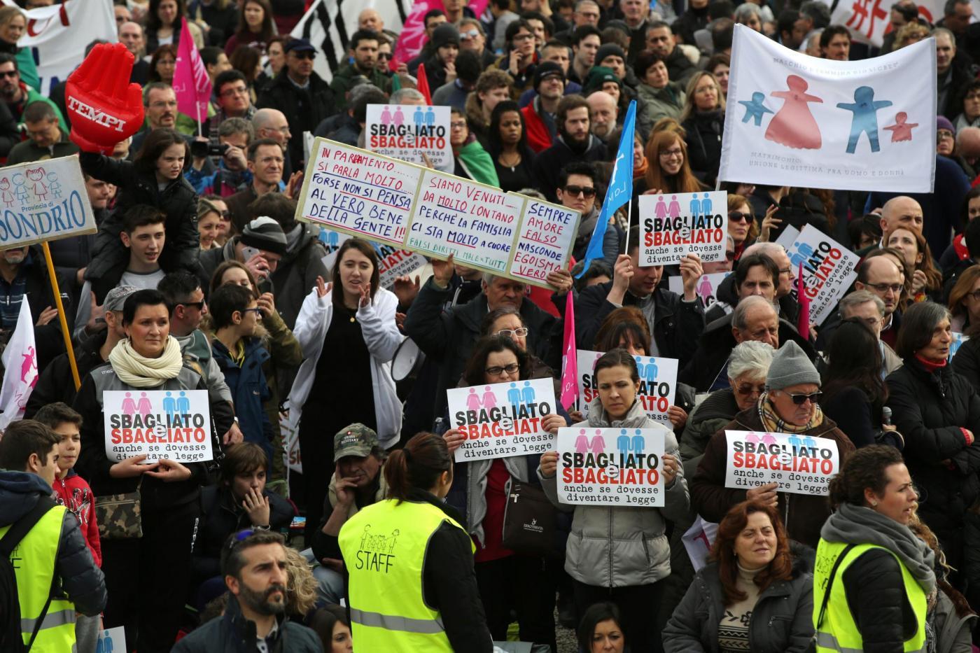 Family Day 2016, a Roma la manifestazione contro le unioni civili gay
