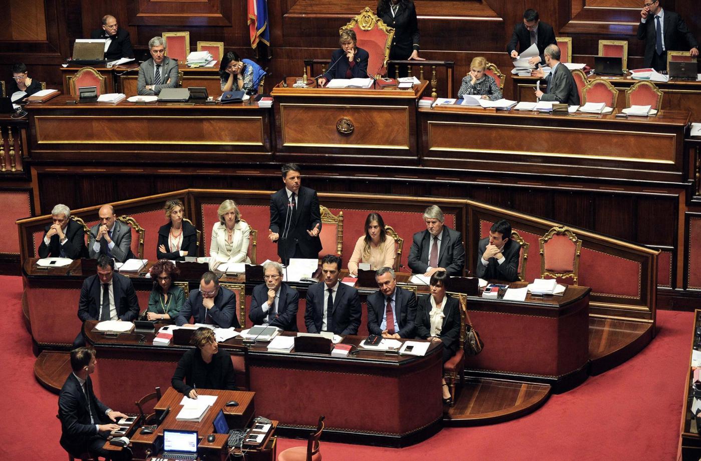 Il governo Renzi in Aula
