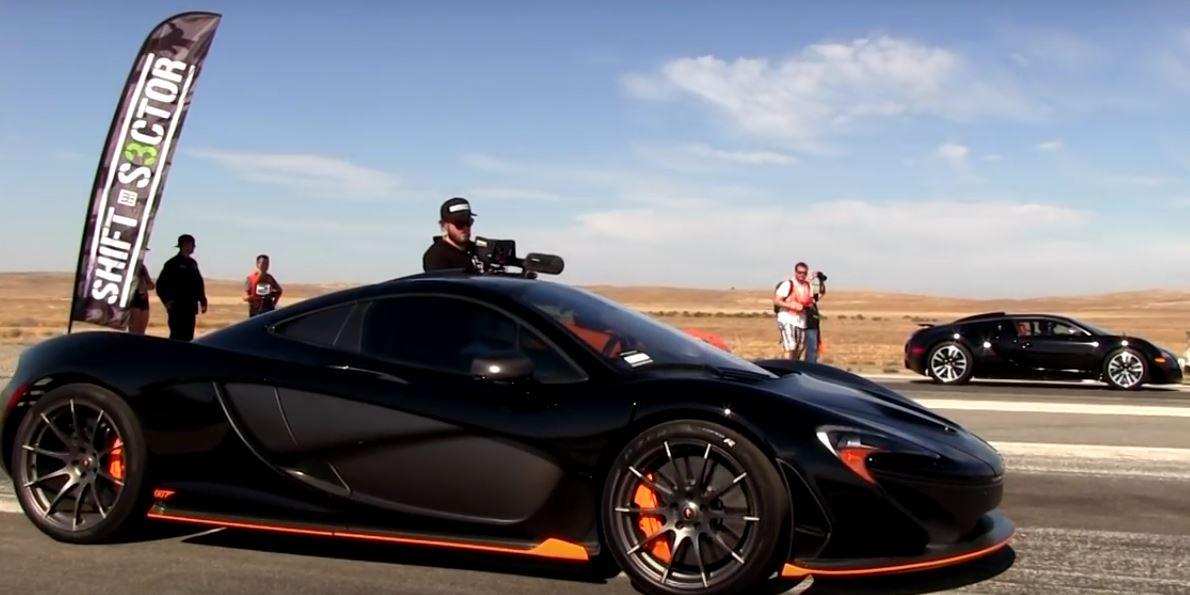 Bugatti Veyron vs McLaren P1, il drag race