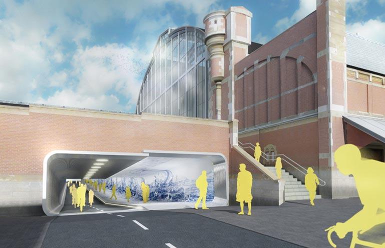 tunnel ciclopedonale progetto