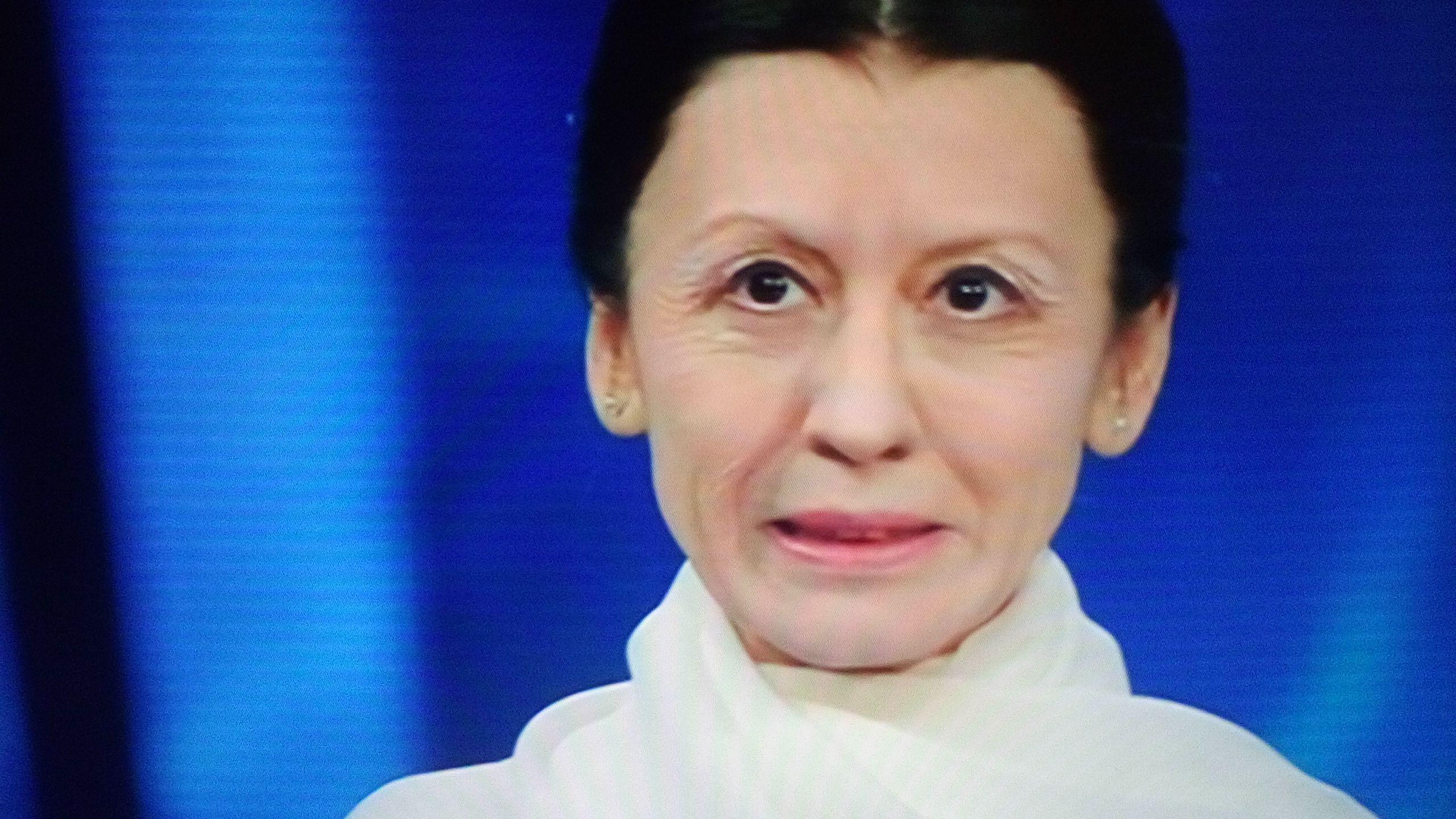 Carla Fracci nell'imitazione di Virginia Raffaele a Sanremo 2016