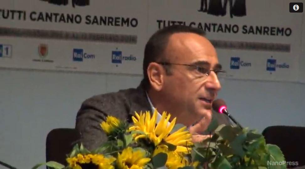Carlo Conti: 'Sanremo? Non sognavo di condurlo, mi guida l'entusiasmo'
