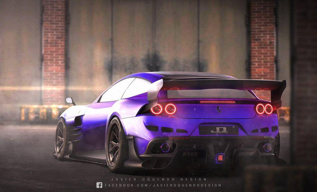 Ferrari GTC4Lusso: già si vede un rendering del tuning