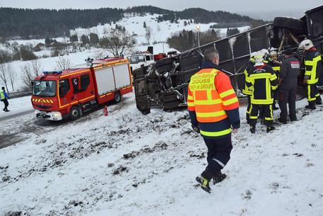 School bus accident in north eastern France