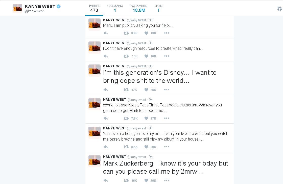 Kanye West su Twitter 2