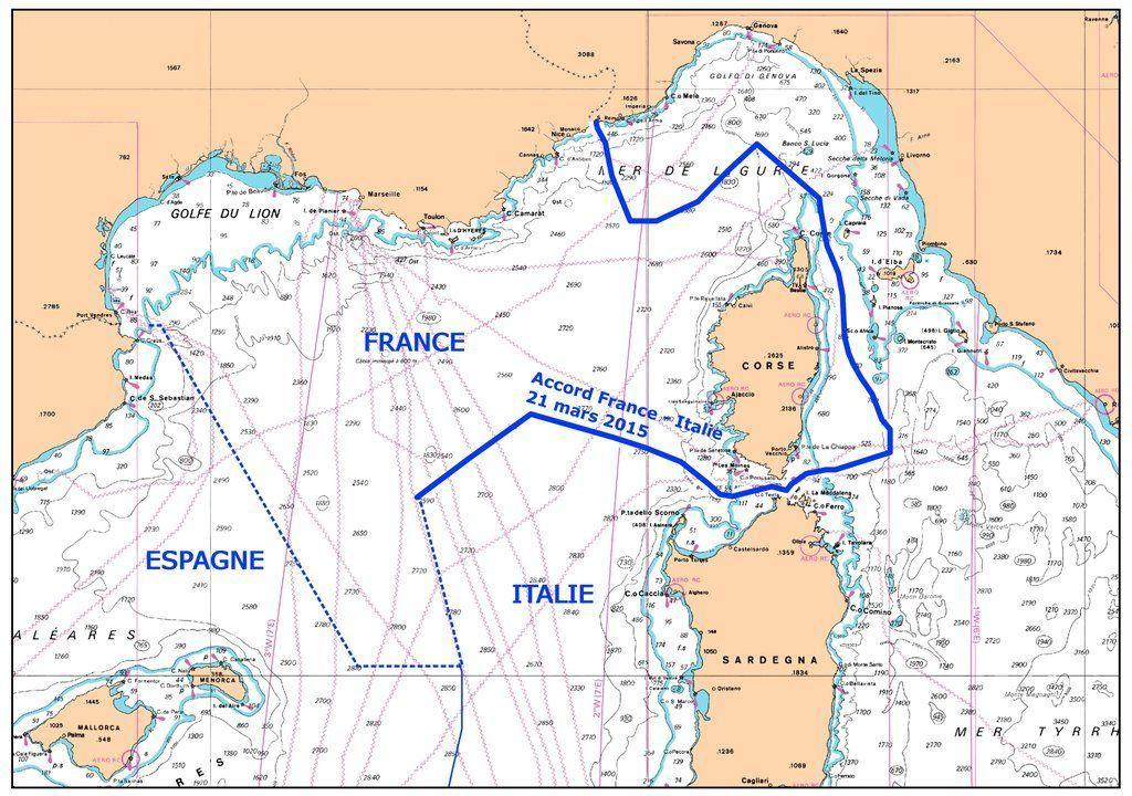 I nuovi confini marittimi, dopo l'accordo Italia-Francia